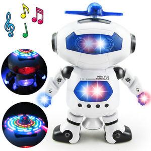 Dancing Robot Toys For Boys Kids Toddler Musical Light Toy Birthday Xmas Gift