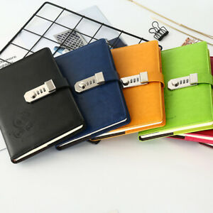 One A5 Journal Diary Notebook with combination lock Cards and Pen Holder