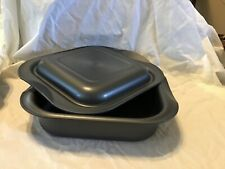 Tupperware Ultra Pro 2 Qt Square Pan with cover NEW oven, microwave, and freezer