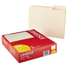 100 Ct File Folders Manila 1/3 Cut Assorted Top Tab Letter Size Office Supplies