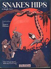 Snakes Hips 1923 Spencer Williams Sheet Music