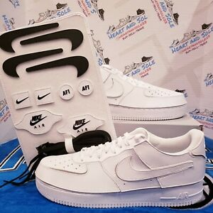 NIKE Air Force 1 AF1/1 White Removable Parts Shoes CV1758-100 Men's Size 13 NEW