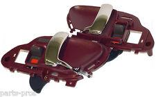 New Inside Door Handle PAIR RED & CHROME / FOR 1995-98 CHEVROLET & GMC TRUCK