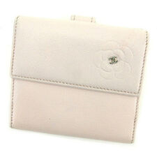 Auth Chanel Double Sided Wallet Camellia Women''s used J20648