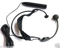 XLR 3Pin Phantom Power 48V Head worn Headset Microphones 195in. cable