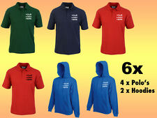 Personalised Embroidered Work Wear Package Printed Polo Hoodies