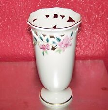 "Beautiful Lenox Barrington Collection Pierced Floral Flower Vase 8"" Gold Trim"