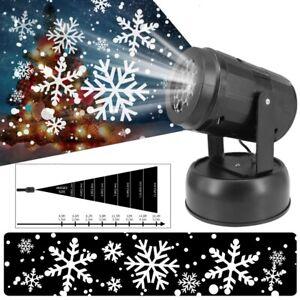 Christmas Snowflake LED Laser Projector Light Outdoor Snow Garden Landscape st