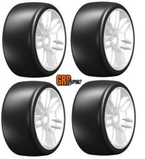 NEW GRP Mounted Belted Tires White Slick 17mm S7 1/8 Buggy