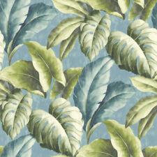 Tapete Botanical BA2403 Vlies Palmen Blätter Floral Urwald grün blau