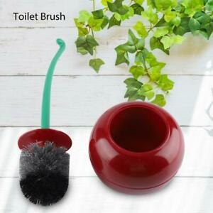 Toilet Brush Holder Set Cherry Standing Cleaning Bathroom Toilet Accessory