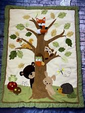 Lambs & Ivy Echo Forest Woodlands Crib Bed Comforter Toddler Bed Quilt Fox Owl