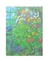 Marc Chagall Le Bouquet Ardent Poster Kunstdruck Bild 40x50cm