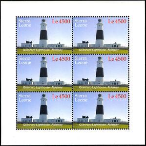Sierra Leone 2820 M/S De 6, MNH Quesnard Phare, Alderney, 2005