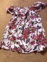 Bnwot Oasis Bardot Top Butterfly Size 8 Cotton