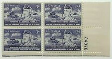 U.S. 3 CENT PURPLE POSTAGE HONORING WWII GEN. GEORGE S. PATTON Jr.