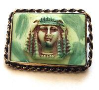 Vintage Egyptian Revival Max Neiger Tutankhamun Brooch Pin