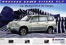 Publicité advertising 2004 (2 pages) Nouveau grand Vitara XL-7 Suzuki 4X4