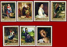 Ungarn 1966 Nationalgalerie Budapest, postfrischer Satz ** MNH, Mi 2291A-2297A
