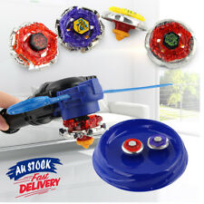 4D Launcher Fusion Metal Master burst Rare Grip Fight Beyblade Stadium set