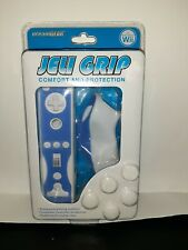 DreamGear Cover Jeli Grip for Nintendo Wii WiiMote Blue & White Brand New!