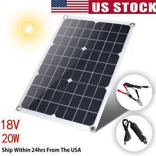 18V 20W Watt Semi Flexible Solar Panel Battery Charger Controller Kit Easy Use U