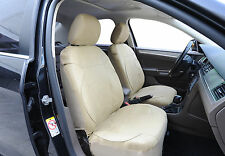 2 Car Seat Covers Vinyl Leather Compatible to Lexus 853 Solid Tan