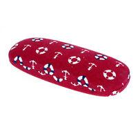 Sunglasses /& Glasses Protective Hard Case Half Oval Sailor Print Fabric
