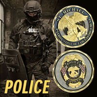 WR America Police Challenge Gold Foil Coin WA Police Collectors Item Lucky Gifts