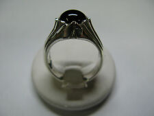 RING MEN WOMEN SILVER 925 HANDMADE WITH CABOCHON ONYX