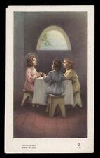 """santino-holy card""""""""ediz. FB serie 4 n.35 GESU' BAMBINO ALLA MENSA CELESTE"""