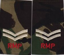 ROYAL MILITARY POLICE CORPORAL DPM CAMO rank epaulettes