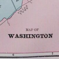"Vintage 1903 WASHINGTON DC Map 14""x11"" ~ Old Antique Original GEORGETOWN"