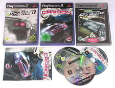 Juegos: need for speed Pro Street + Carbon + Most Wanted para PlayStation 2