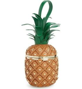 kate spade by the pool 3D PINEAPPLE leather CLUTCH handbag BAG novelty purse