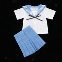 1/4 Blue Student Uniform Suit Outfit for BJD for Dollfie for DOD for MSD Dolls