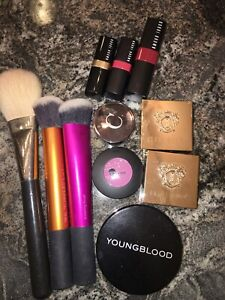 Real Techniques, MAC,YoungBlood,Bobbi Brown,Chantecaille, Glo Minerals Mixed Lot