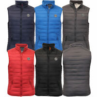 Mens Padded Quilted Lined Winter Bodywarmer Gilet By Crosshatch
