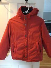 Mini boden Boys Red Anorak Jacket with blue fleece lining Sz 9-10