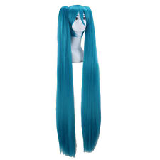 Cosplay 120cm Vocaloid Hatsune Miku Show Hair Wigs + Wig Cap Anime Clothes Party