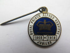 ROYAL PRINCE ALFRED HOSPITAL SYDNEY 1868 to 1918 JUBILEE ENAMEL PIN BADGE c1918