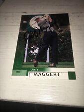 Jeff Maggert Signed 2002 Golf Card