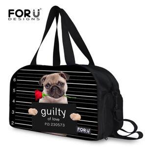 Sports Gym Duffle Bag Cute Pet Yoga Travel Bag with Shoe Compartment Women Mens