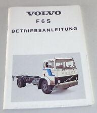 Betriebsanleitung Volvo LKW F 6 S Stand 03/1979