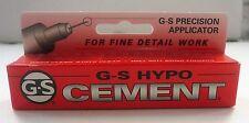 G-S Precision Applicator Hypo Fabric Cement Glue Item # GLU106 - NEW