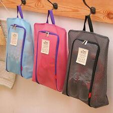 Simple Travel Shoe Bag Zip View Window Pouch Storage Waterproof Organizer Bags