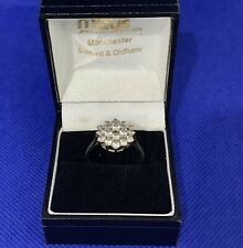 9ct gold cubic zirconia Cluster ring Size R J1