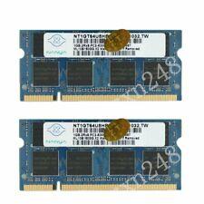 2GB KIT 2 x 1GB For HP Compaq Presario CQ70-265EG F500 F500EA F501AU Ram Memory