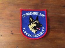 Netherlands Police patch K9 hondenbrigade T DE W SECURITY