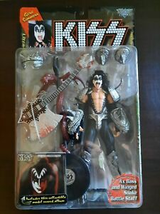 MCFARLANE ULTRA ACTION FIGURES KISS GENE SIMMONS DEMON FIGURE! MOC! ALBUM!